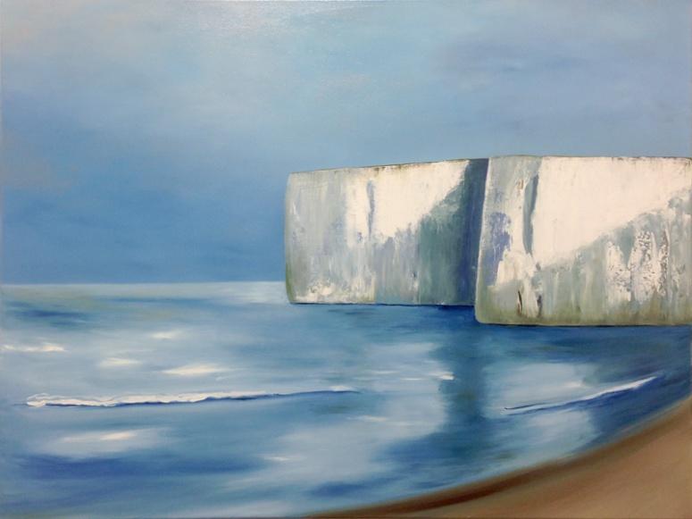 Kent Chalk Cliffs oil on canvas 80x100cm Julie Caves
